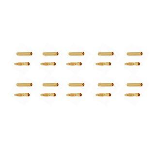 10 Paar Goldkontaktstecker 2 mm (kurz) Goldverbinder (Stecker/Buchse)