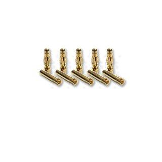 5 Paar 4 mm Goldkontaktstecker Verbinder (Stecker/Buchse) Bananenstecker