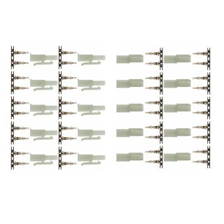 10 Paar (20 Stück) Marfitec T135 Steckverbinder kompatibel mit Tamiya (Stecker/Buchse)