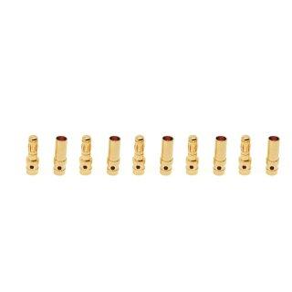 5 Paar (10 Stück) Goldkontaktstecker 3.5 mm Goldverbinder (Stecker/Buchse)