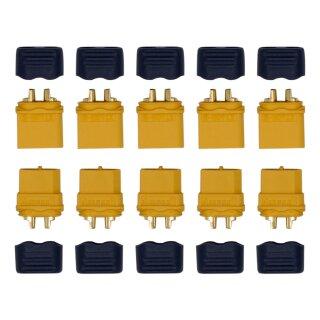 5 Paar XT60 H Stecker/Buchse (male/female) 3,5 mm + caps