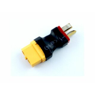 XT60 Buchse (female) --> Deans T-Plug Stecker (male) Adapterstecker XT60 / Deans