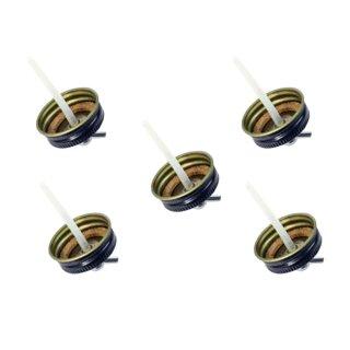 5 x Deckel für 22 ccm Farbglas Airbrush mit 60° Adapter - Anschluss