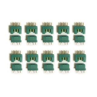 10 Paar (20 Stück) Marfitec MPX Steckverbinder (Stecker/Buchse) kompatibel