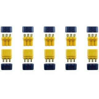 5 Paar MR30 Stecker/Buchse (male/female) 2,0 mm 3 Pin Goldkontakte + Caps