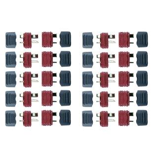 10 Paar Deans Stecker/Buchse T-Verbinder Ultra + Caps