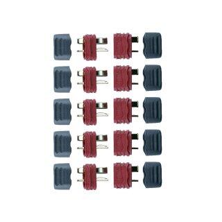 5 Paar Amass Deans Ultra T-Plug Stecker/Buchse T-Verbinder + Caps