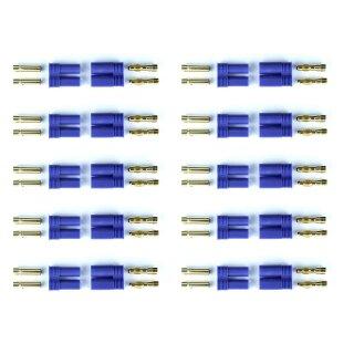 10 Paar E-flite EC5 kompatibel Stecker/Buchse Plug