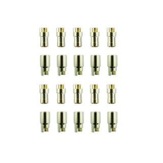 10 Paar 6 mm Goldkontaktstecker Verbinder (Stecker/Buchse) Bananenstecker