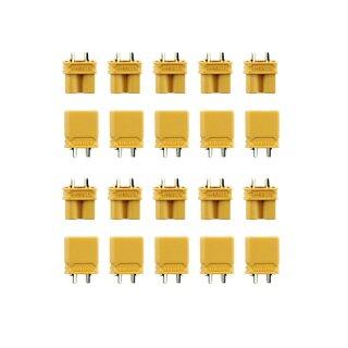 10 Paar Amass XT30 (20 Stück) Stecker/Buchse (male/female) 2,0 mm