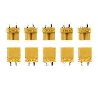 5 Paar Amass XT30 (10 Stück) Stecker/Buchse (male/female) 2,0 mm