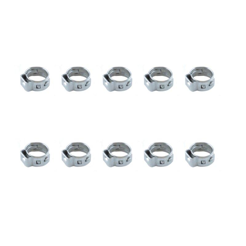 10 Stück Schlauchklemmen 4 mm für Kraftstoffschlauch nitro RC