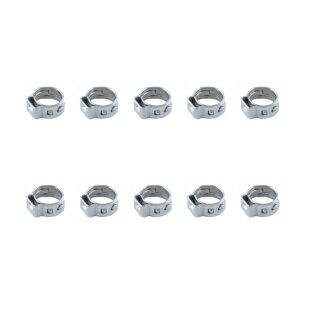 10 Stück Schlauchklemmen 1-Ohr 5.3~6.5mm für Kraftstoffschlauch nitro