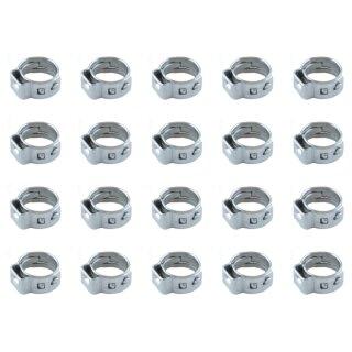 20 Stück Schlauchklemmen 1-Ohr 7.0~8.7mm für Kraftstoffschlauch nitro