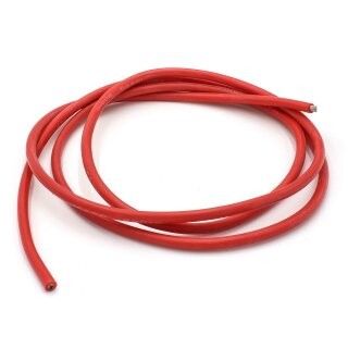 1 m Silikonkabel 2,5 qmm (AWG14) hochflexibel - rot