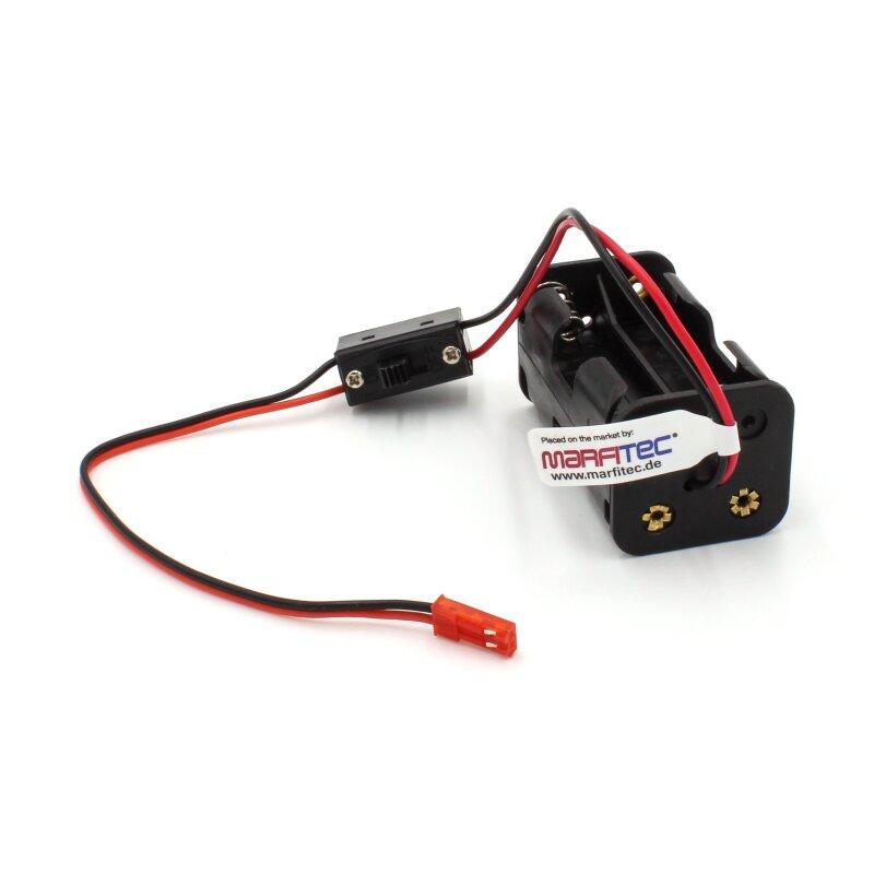 4 x AA 6V Batteriehalter Stecker Aufbewahrungskoffer Box Ein Aus Schalter CBL