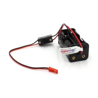 Batterie Box kompatibel mit JST BEC - mit Schalter - 4 x AA - 6 V