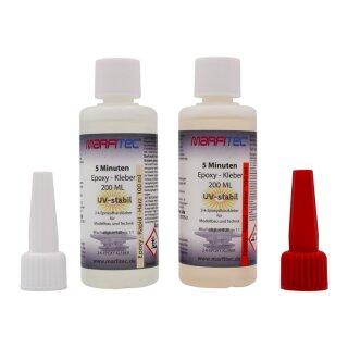 Marfitec 5-Minuten-Epoxy UV-stabil 200ml (Epoxidharz 100ml, Epoxidhärter 100ml)