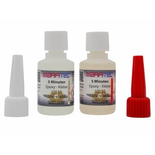 Marfitec 5-Minuten-Epoxy UV-stabil 100ml (Epoxidharz 50ml, Epoxidhärter 50ml)